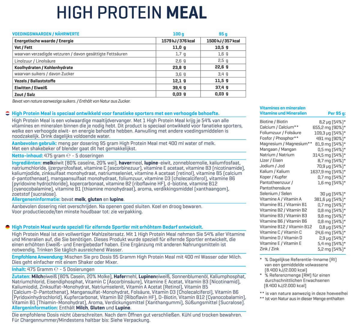Body & Fit High Protein Meal | Dietní náhrada stravy | kupuj naFitnessMuscle.eu