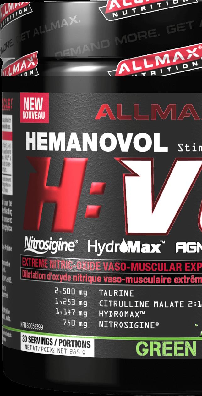 Allmax HVol | Nejsilnější svalová pumpa sagmatinem | kupuj naFitnessMuscle.eu